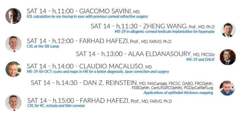 Hanson Instruments | CSO Saturday booth programme ESCRS Conference September 2019