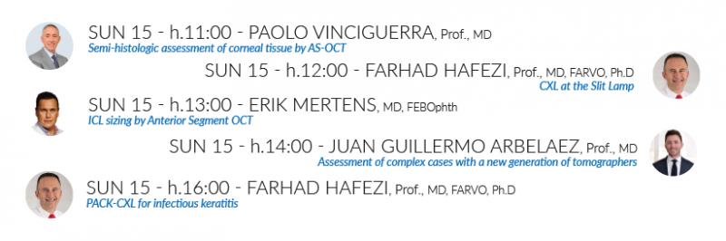 Hanson Instruments | CSO Sunday booth programme ESCRS Conference September 2019