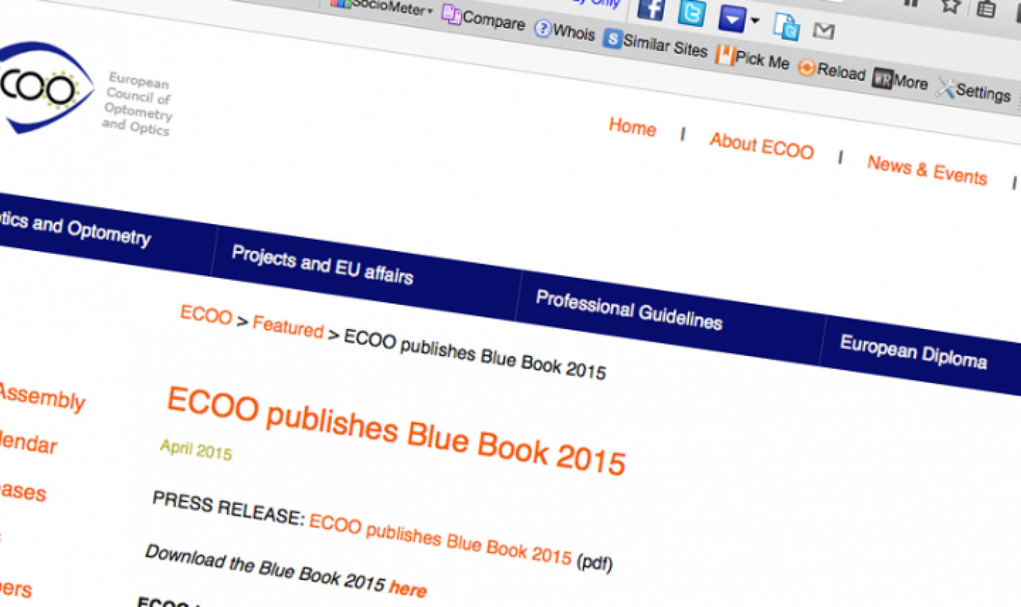 Blue Book 2015 ECOO