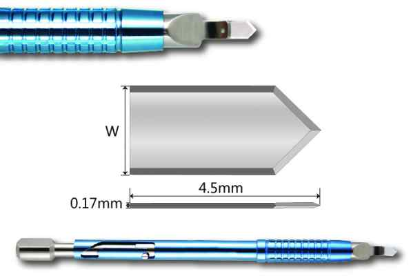 Accutome Dual Bevel Phaco Incision Diamond Knife AK6017S